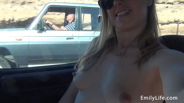flashing on the highway